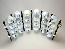 Flex Rack Modular 24 Golf Ball Display Wall Desktop Made in USA Shelf Case BLACK