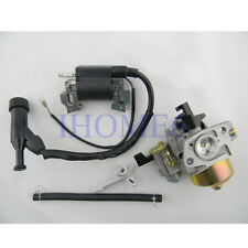 Ignition Coil + Carburetor + Fuel line For HONDA GX160 5.5HP GX200 6HP Engine