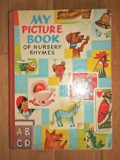 1963 MY PICTURE BOOK OF NURSERY RHYMES ILLUSTRATED BY Vojtech Kubasta - RARE