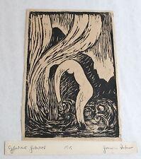 """Holzschnitt """"Aphrodites Geburt"""" 1919 - Künstler unbekannt, Expressionismus - xz"""