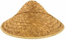 CHINESE COOLIE STRAW HAT Chinese New Year Party FANCY DRESS  Oriental china