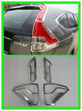 Chrome Rear Tail light lamp cover trim 4pcs for Honda CRV CR-V 2012-2014