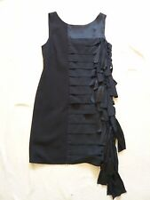 NEW BGBG MaxAzria V back sleeveless party dress w silk knot/tassel detail UK 10