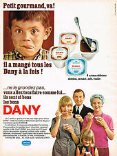 PUBLICITE ADVERTISING 124  1966  DANONE  yaourts DANY