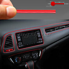 Molding Accessory Red Edge Gap Line For Universal Car Interior Garnish 5M Point