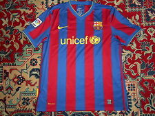 TOP Rare FC Barcelona 2009/2010 NIKE L HOME shirt jersey Camiseta 09