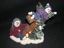 Boyds Bears SNOW DOODLES ALLY & OOPS....NO BRAKES 1E NEW Never Displayed