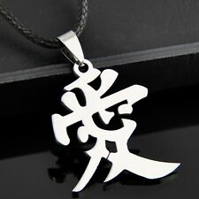 Chinese character Word love Stainless Steel Pendant Necklace ST103