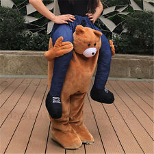 Carry Me Teddy bear Ride on Piggy Back Mascot Halloween Costume dress Adult Hot