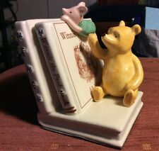 CLASSIC POOH CERAMIC BOOKEND BORDER FINE ARTS A9301 POOH & PIGLET BOOK STOP