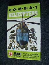 Ace Fact Pack Combat Helicopters collector card factory boxed set cards