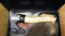 4013 LARGE COLLECTABLE KARESUANDO AXE HATCHET LIGHT CURLY BIRCH HANDLE BUSHCRAFT