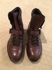 PRADA MENS HIKING BOOTS - BROWN - BRAND NEW IN ORIGINAL BOX - PRADA SIZE 8 1/2