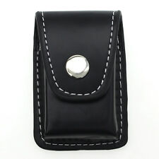 Newly Black Geniune Leather Clip-On Lighter Sheath Pouch Case Holder Wallet