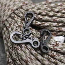 5pcs EDC Gear Snap Spring Clip Hook Stainless Steel Outdoor Keychain Pocket