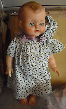 """Vintage 1950s Vinyl or Rubber Baby Boy Character Doll 18"""" Tall"""
