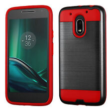 Cosmic Red ShockProof Case for Motorola Moto G4 Play AAA Shipped from Toronto
