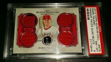2013 Topps Museum Collection #PPQR-MTR- Mark Trumbo Quad Relic Card! PSA 8!