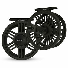 NEW 2016 ROSS EDDY 5/6 LARGE ARBOR DISC DRAG FLY REEL BLACK FOR 5-6 WEIGHT ROD
