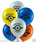 8 X DESPICABLE ME MINIONS LATEX PARTY BALLOONS - UK SELLER