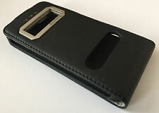 Apple iphone 5c flip stand leather case magnetic cover black Southking vertical