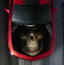 H20 GRIM REAPER SKULL Hood Wrap Wraps Decal Sticker Tint Vinyl Image Graphic