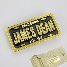 Rockabilly James Dean California Black Plate Belt Buckle Gürtel Gürtelschnalle