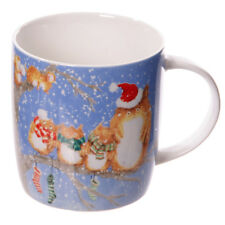Coffee Cup New Bone China Mug  Cute Christmas Owl Family Gift Ideas Height 12cm