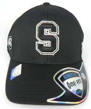STANFORD CARDINAL NCAA BLACK ON BLACK PREMIUM FLEX FIT 1-FIT TOW CAP HAT NWT!