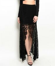 L Lolita Gypsy Steam Punk Boho Belly Dance Lace Gothic Salsa Tango Mermaid Skirt