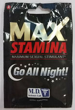 MD LABS MAX STAMINA MALE SEXUAL ERECTILE ENHANCER ENHANCEMENT HERBAL PILLS 2 ct