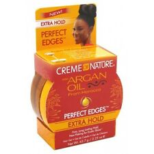 CREME OF NATURE, ARGAN OIL PERFECT EDGES EDGE CONTROL HAIR GEL EXTRA HOLD 2.25OZ