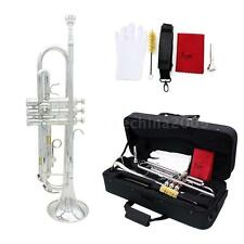 TRUMPET- pro SILVER MARCHING CONCERT OR SCHOOL BAND TRUMPETS-Bb B FLAT BRASS
