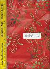 """108"""" Wide Quilt Backing, By The Yard, 100% Cotton,  QUILTER BATIKS QBW-13"""