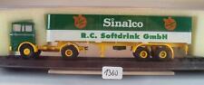 Brekina 1/87 81014 Mercedes Benz LP1620 Sattelzug Sinalco R.C. Softdr. OVP #1360