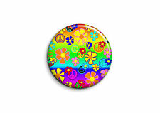 Peace and Love - Fleurs 3 - Badge 56mm Button Pin