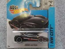 Hot Wheels 2014 #035/250 FERRARI 458 ITALIA black HW CITY