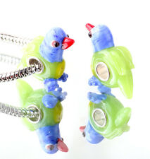 1pcs SILVER MURANO GLASS BEAD LAMPWORK Animal fit European Charm Bracelet WW286