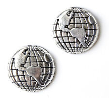 Globe Cufflinks - Gifts for Men - Anniversary Gift - Handmade - Gift Box
