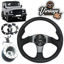 Land Rover Defender Noir Motorsport volant 48 spline BOSS Kit corne