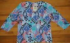 NWT Womens Ruby Rd. Favorite Printed Pattern Blouse Shirt Size XXL 2XLARGE