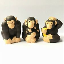 3PCS Chimpanzee Fisher Price Little People Zoo Park ANIMALS Figures Toy QA233
