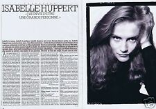 Coupure de presse Clipping 1988 Isabelle Huppert   (6 pages)