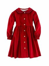 BNWT Beautiful Designer OSCAR DE LA RENTA Girls Red Corduroy Dress 12 or 18 M