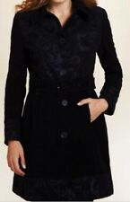 M&S Per Una Black SZ 16 Pure Cotton Rose Print Coat with Belt, BNWT, Was £99