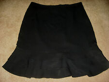 Womens Black THE LIMITED Lined Below Knee Skirt 8
