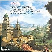 BACH - FANTASIA, INVETIONS, CHROMATIC FANTASIA ND FUGUE CD NEW