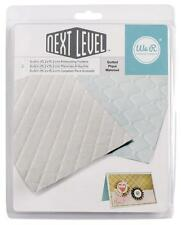 WE R MEMORY KEEPERS QUILTED  NEXT LEVEL 3D  EMBOSSING FOLDERS    662674