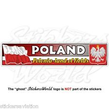 POLAND Polish Flag-Coat of Arms Polska Polonia 180mm Vinyl Bumper Sticker, Decal