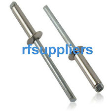 100x Rivets Carbon + Stainless Steel 4.8*8MM standard flange Core pulling Lock